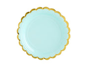 Mint Gold Foiled Paper Plates , Hen Party, Tea Party Plates, Bridal Shower,