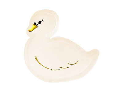 Swan Shaped Paper Plate, Girl Birthday Party,