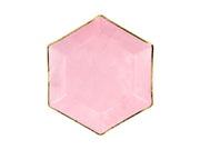Light Pink Gold Foiled Paper Plates, Bridal Shower Plates, Hen Party, Tea Party Plates,