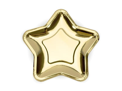 Gold Star Shaped Paper Plates, Gold Star Paper Party Plates, Christmas Plates, Baby Shower Plates, Wedding Tableware,
