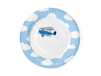 Little Plane Plates, 18cm (1 pkt / 6 pc.)