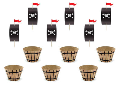 Cupcake kit Pirates Party (1 pkt / 6 pc.)