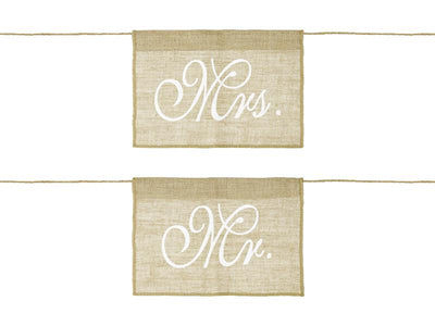 Chair signs Mr Mrs (1 pkt / 2 pc.)