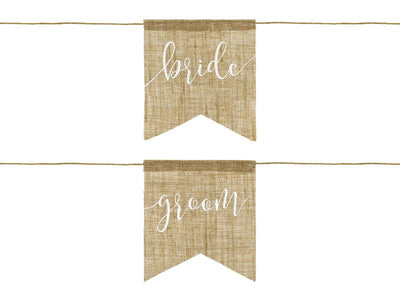 Chair signs Bride Groom (1 pkt / 2 pc.)