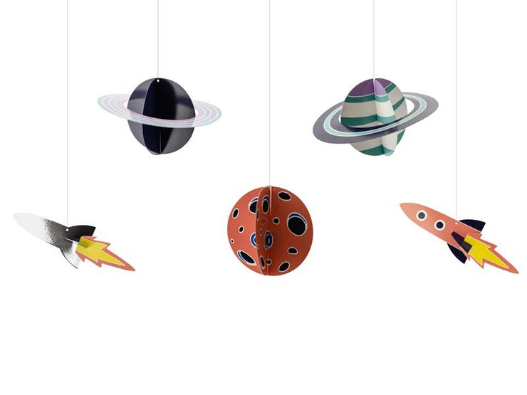 Space Party Hanging Decoration, Galaxy Hanging Decoration, Solar System,