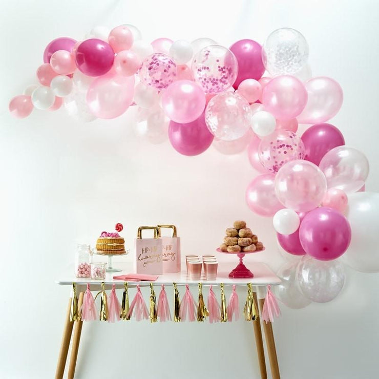 Pink Balloon Arch Kit, Pink Balloon Garland Kit, Aloha Party, Baby shower, Hen Party,