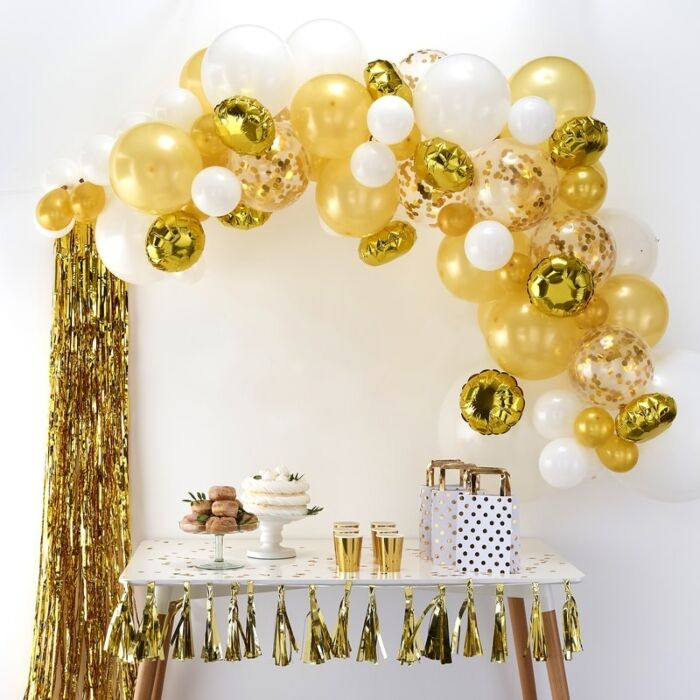 Gold Balloon Arch Kit, Gold Balloon Garland Kit, James Bond, Baby shower,