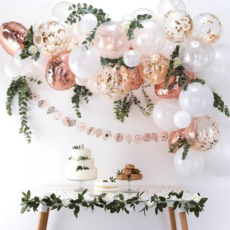 Rose Gold Balloon Arch Kit, Rose Gold Balloon Garland Kit,