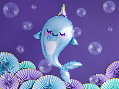 Narwhal Shaped Balloon, Under The Sea, Narwhal Party Decorations