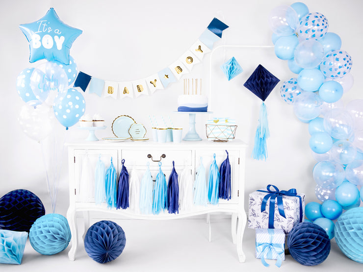 Light Blue Honeycomb Ball, Hanging Party Decoration