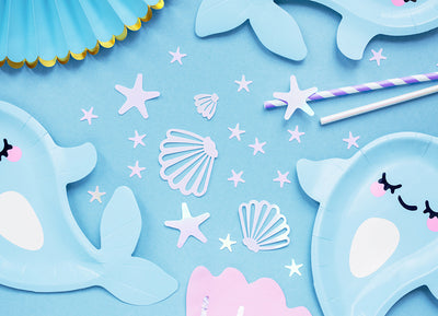Mermaid Table Confetti, Narwhal Party Decoration, Kids Birthday Party,