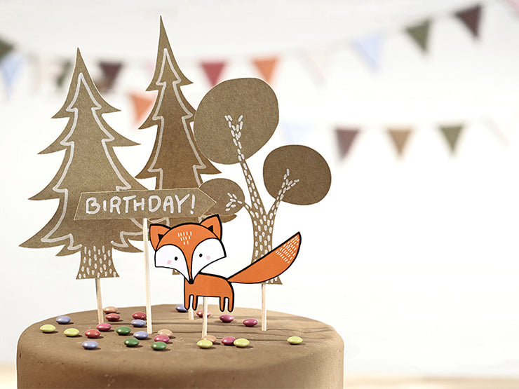 Woodland Cake Topper, Forest Cake Topper, Woodland Birthday Party