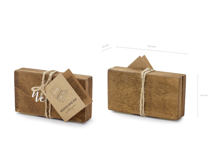 Mrs & Mr Wooden Rings Box, Rustic Wedding Decoration,