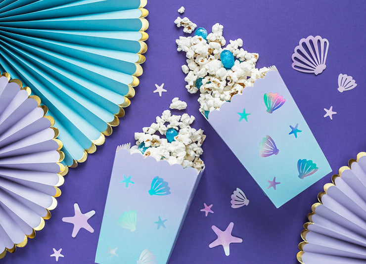 Narwhal Party Popcorn Boxes, Under The Sea Party, Mermaid Birthday Party