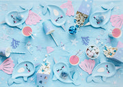 6 Narwhal Paper Plates , Narwhal Party Decoration , Kids Birthday Party,