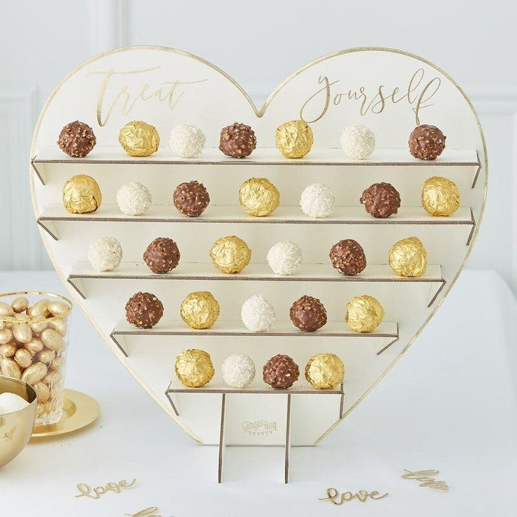 Gold Chocolate Treat Stand, Food Display, Gold wedding decoration,