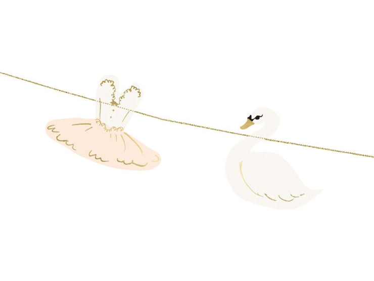 Bellerini and Swan Bunting, Ballerina Birthday 1.26m