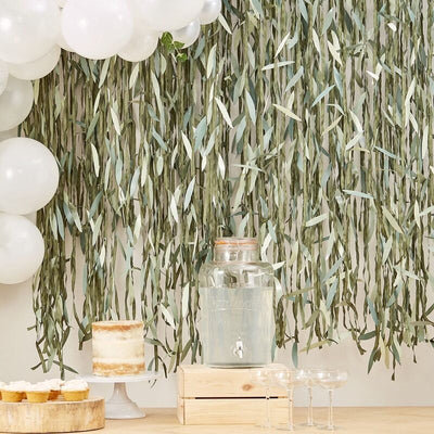 Botanical Leaf Backdrop, Greenery Photo Booth Backdrop, Botanical Baby Decorations,