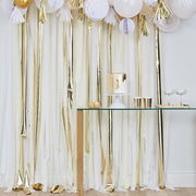 Gold Streamer Garland Kit, Baby Shower Decorations, Wedding Backdrop