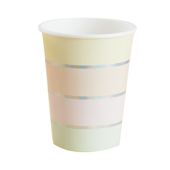 Pastel Rainbow Paper Cups, Children's Party Decoration, Unicorn Party,