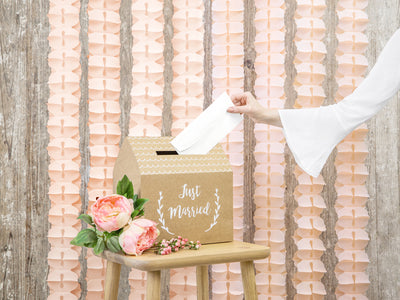 Tissue garland, light pink, 3m