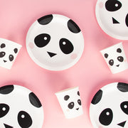 8 Panda Paper Cups, Birthday Party, Animal Party Tableware, Kids Party