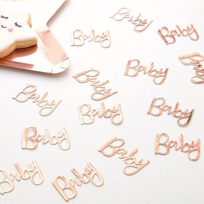 Rose Gold Baby Confetti, Baby Shower Table Confetti, New baby,  Baby Shower Table Decoration