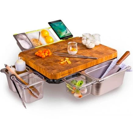 Multi-function Cutting Board with Shelf