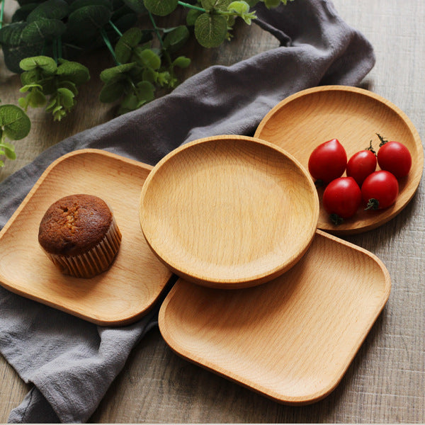 Japanese Wooden Dish, Whole Dish, Dessert, Western Food, Baking, Kitchen Supplies