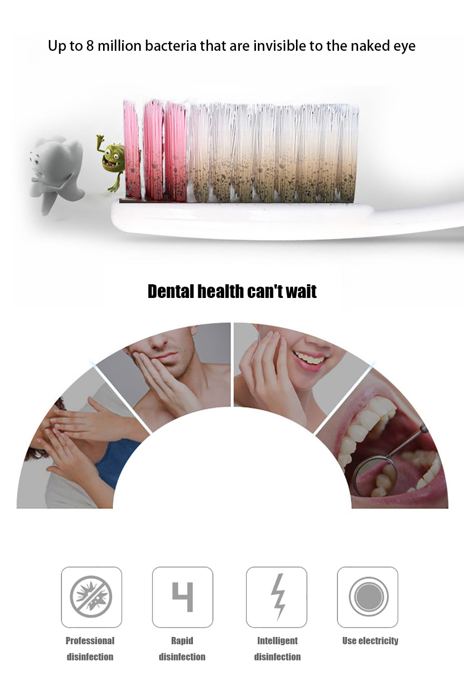 2 in 1 UV Light Ultraviolet Toothbrush Sterilizer Toothbrush Holder Automatic Toothpaste Squeezers Dispenser Home Bathroom Set