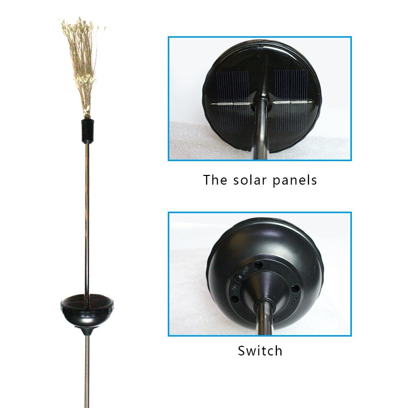 90/150 LED Solar Light Eight Function Modes Dandelion Lawn Lights / Grass Fireworks Lamp /Outdoor Waterproof Garden Light