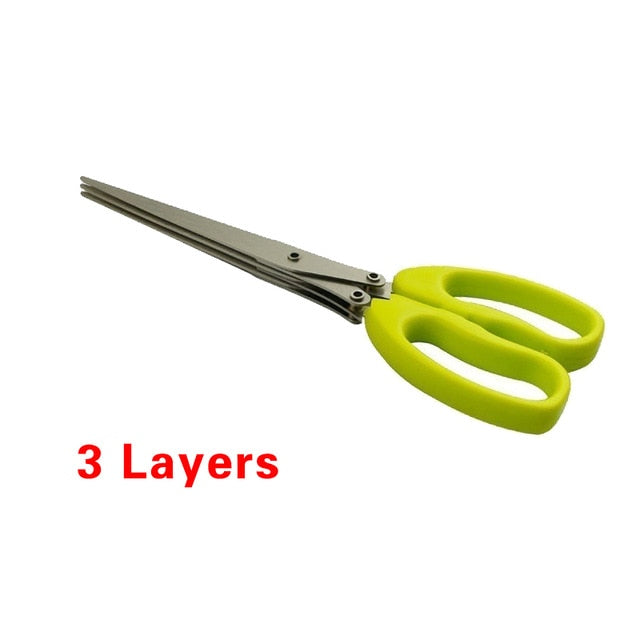 Minced 5 Layers Basil Rosemary Kitchen Multi-Layers Scissor Shredded Chopped Scallion Cutter Herb Laver Spices Cook Tool Cut