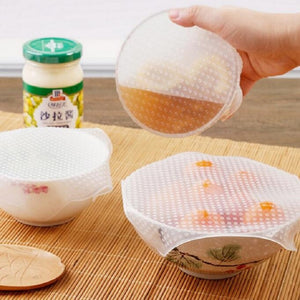 1pcss Food Fresh Keeping Wrap Kitchen Tools Reusable Silicone Food Wraps Seal Vacuum Cover Stretch Lid Kitchen Accessories