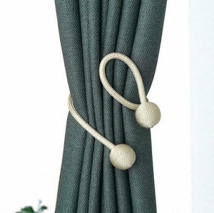 HOT Curtain Magnetic Balls Pearl modern Simple Tie backs Rope New decorative hooks holder tieback living room accessories rod