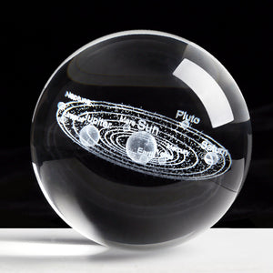 Solar System Miniatures Figurines 3D Planets Model Sphere Ball Desk Decoration Home Decor Gift for Holiday