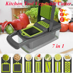 7 In1 Vegetable Cutter Food Salad Fruit Peeler Cutter Slicer Dicer Chopper Kitchen