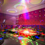 60 Patterns RGB LED Disco Light 5V USB Recharge RGB Laser Projection Lamp Stage Lighting Show for Home Party DJ Dance Floor