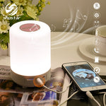 Rechargeable Colorful LED Night light Bluetooth Speaker Wireless table lamp bedroom bedside lamp can set an alarm