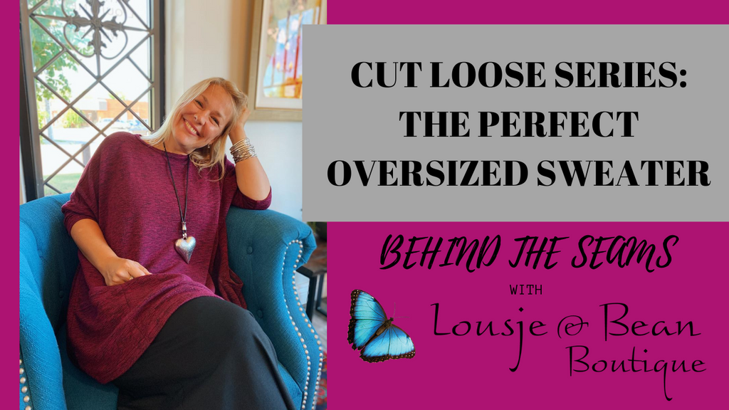 Behind The Seams: OVERSIZED SWEATER FROM CUT LOOSE