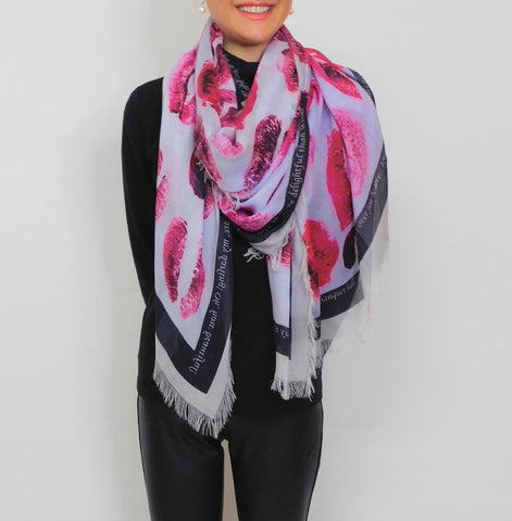 Love's Pure Scarves made in canada Silk Scarf. Lousje & bean