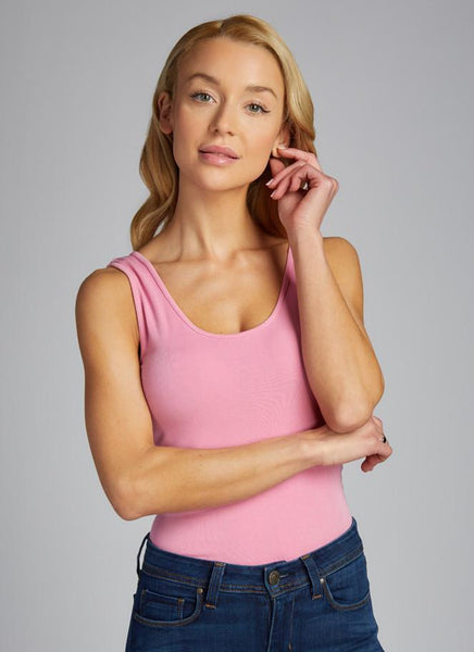 c'est moi bamboo seamless women's clothing line. cest moi seamless clothing. best basics. best Bamboo Tank top in Cashmere