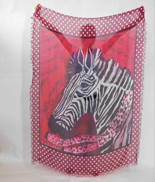 LOVE's PURE- Stunning Silk/Model Scarf in Zebra