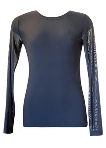 L&B Mesh Top LS in Blk