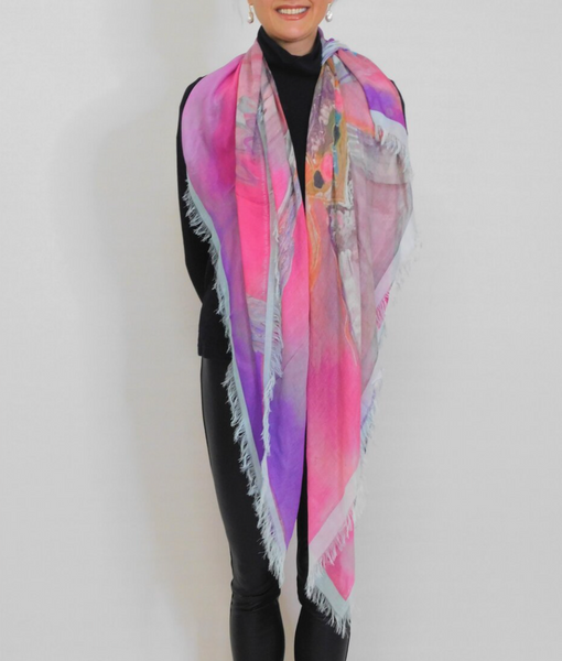 Love's Pure Light Scarves made in canada Silk Scarf. Lousje & bean