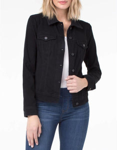 Liverpool Classic Jean Jacket in Blk