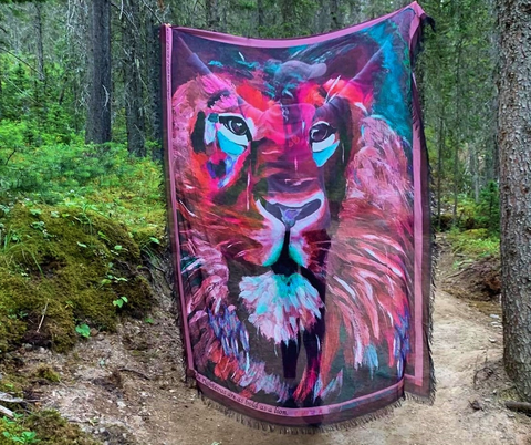 LOVE's PURE- Stunning Silk/Model Scarf in Lioness