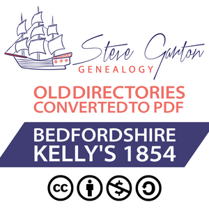 Kelly's 1854 Directory of Bedfordshire Download - SG Genealogy