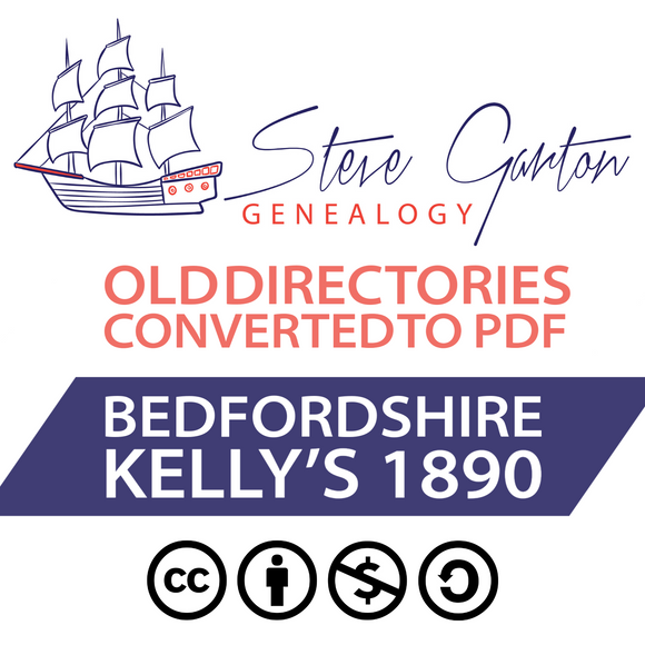 Kelly's 1890 Directory of Bedfordshire Download - SG Genealogy