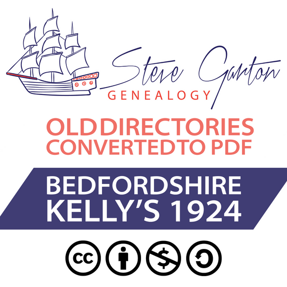 Kelly's 1924 Directory of Bedfordshire on CD