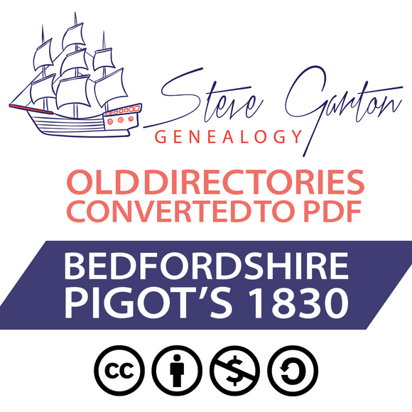 Pigot's 1830 Directory of Bedfordshire Download